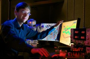 Ron Alterovitz in his lab