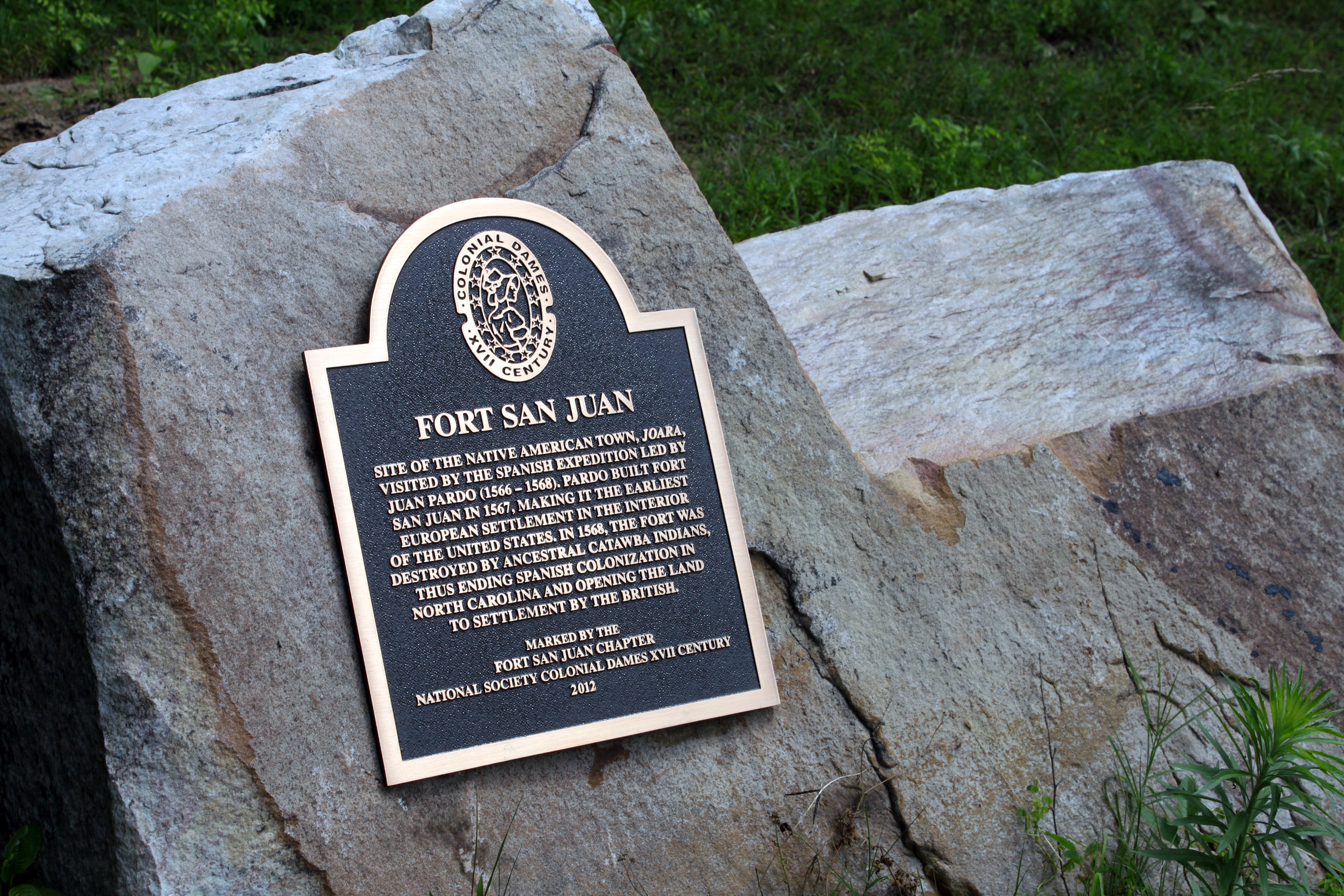 Fort San Juan lasted less than 18 months. (photo by Beth Lawrence)