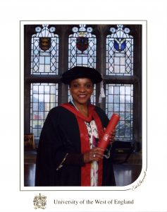 Golding at her MBA graduation. (Photo courtesy of Peaches Golding)