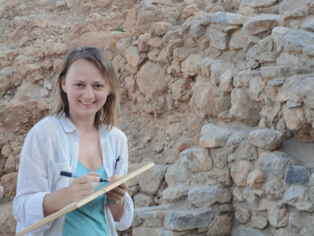 Cicek Beeby at the Azoria site in Crete