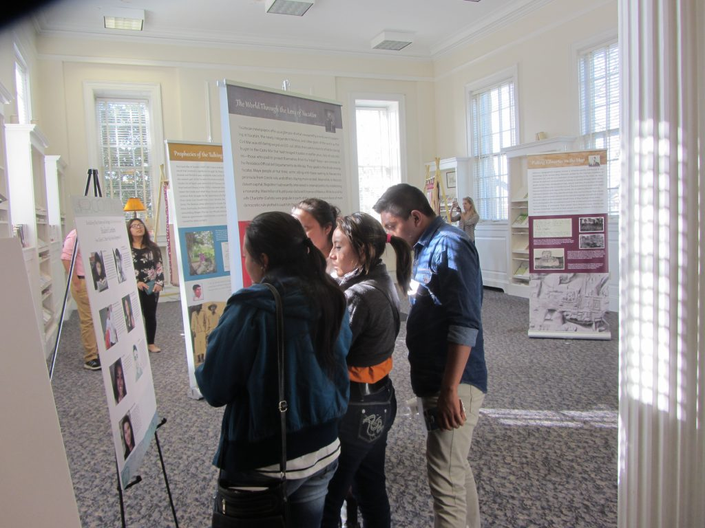 The two groups of students (from Patton High School and the Universidad de Oriente de Yucatan) had their first opportunity to share their research with each other and the community at an exhibit in Morganton. (photo courtesy of Gabrielle Vail)