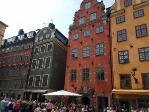 "Students visited Gamla Stan, also called the ""Old Town,"" in Stockholm."