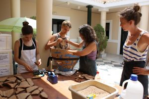 Project chief conservator, Stephania Chlouveraki, teaching object conservation to students at INSTAP-Study Center for East Crete.