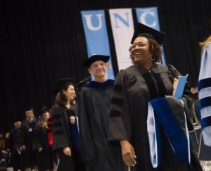 Doctoral Hooding ceremony held May 13, 2017 at the Dean Smith Center. Photo by Jon Gardiner.
