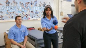 A $2.6 million grant from the NFL is funding an international study on the role of active rehabilitation strategies in concussion management, such as those being used at the Matthew Gfeller Center, above.