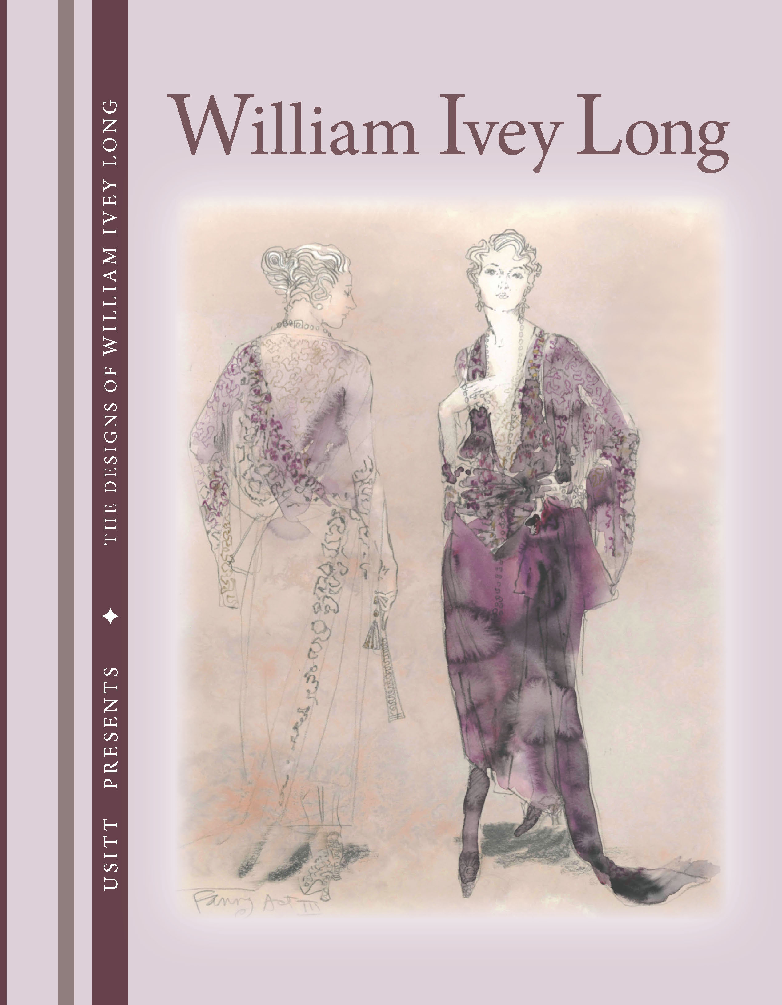 """Book cover for """"The Designs of William Ivey Long"""""""