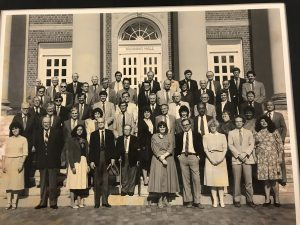 #Throwback: This 1986 photo shows Colin Palmer (second row, fourth from right). , with his history department colleagues. That year he became the first African-American to chair a department at UNC. Did you take a class with Professor Palmer? We'd love to hear from you. Email us at college-news@unc.edu. (photo courtesy of Universtiy Libraries)