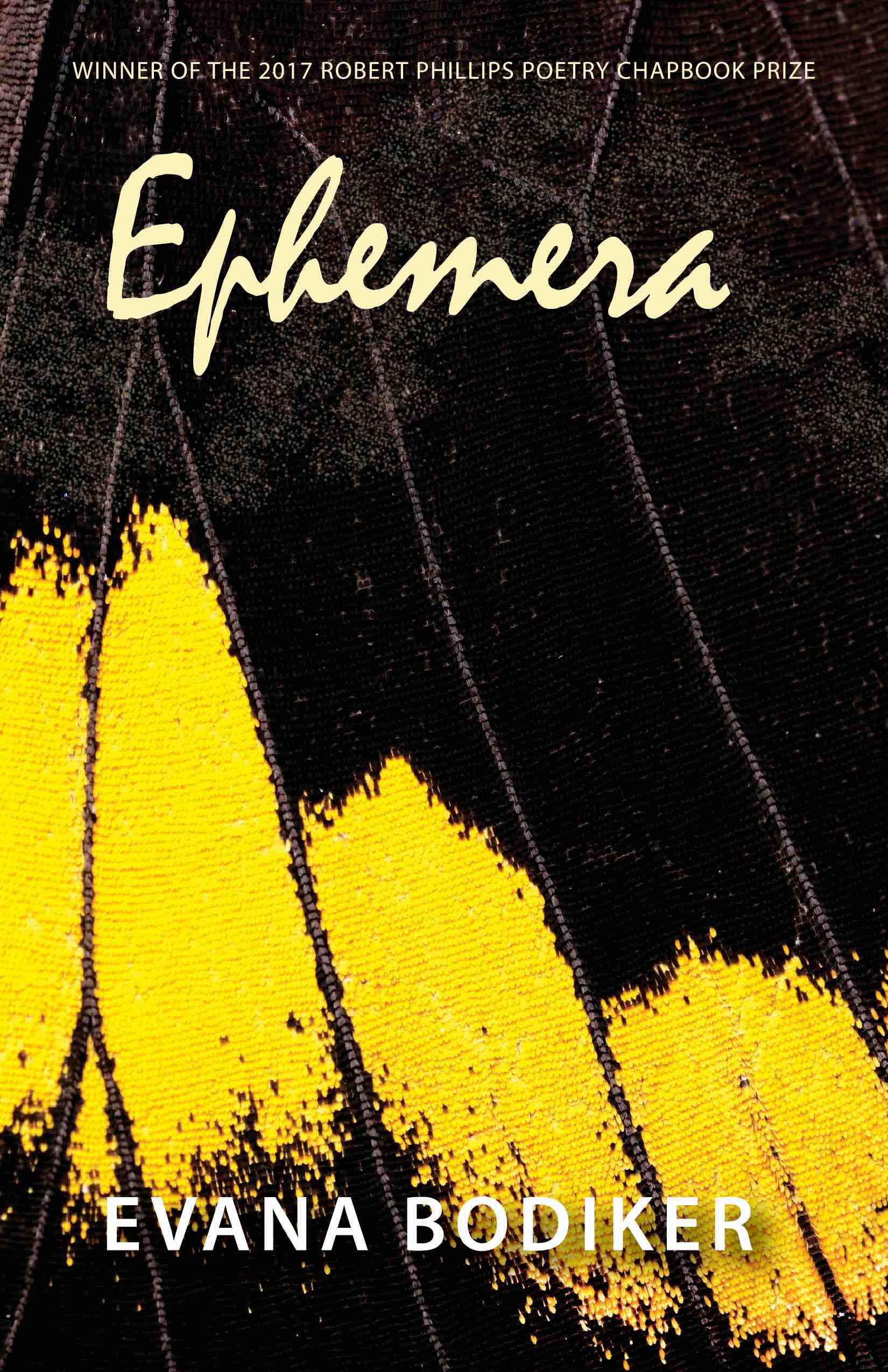 Cover of Evana Bodiker's chapbook Ephemera.