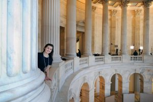 Lucy Russell at in the rotunda of the Russell Senate Office Building.