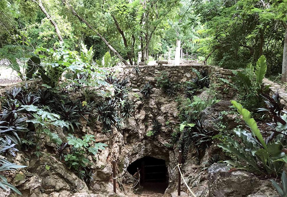 The entrance to Cenote Palomitas.