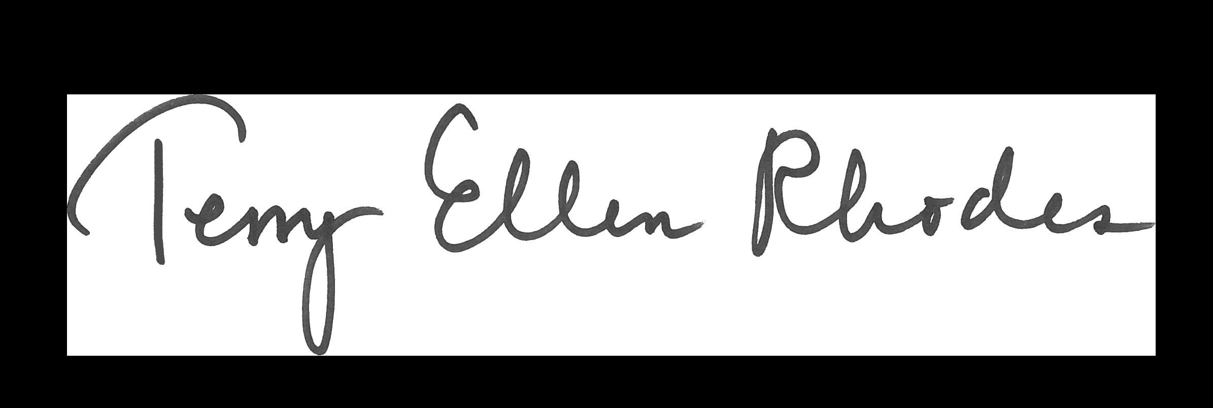 Terry Ellen Rhodes signature