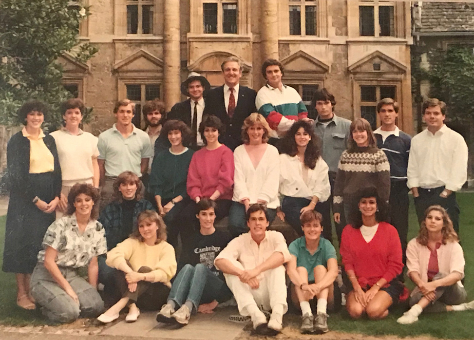 """The 1985 Oxford trip led by Armitage; Laine Kenan and Tom Lutz were on that trip. Armitage dubbed them """"Rosencrantz and Guildenstern."""""""