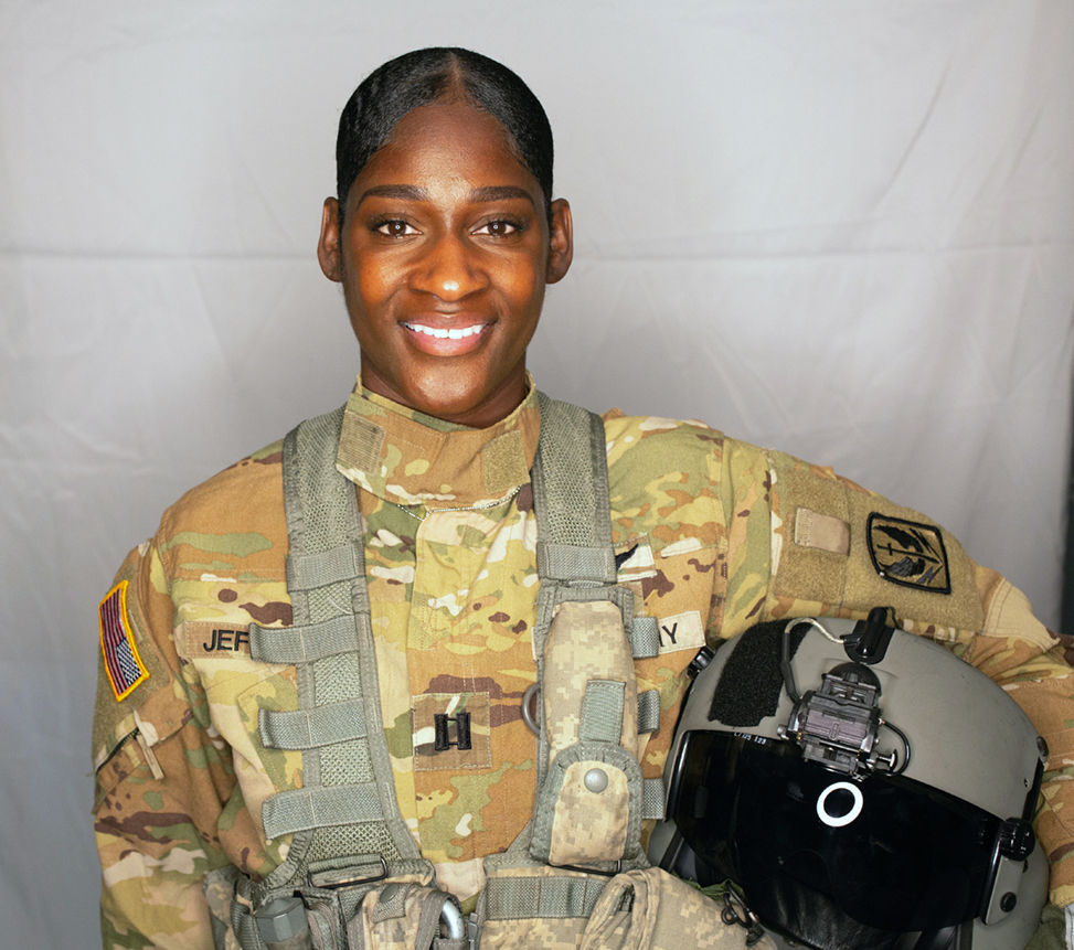 Lindsey Jefferies in her Army National Guard uniform.