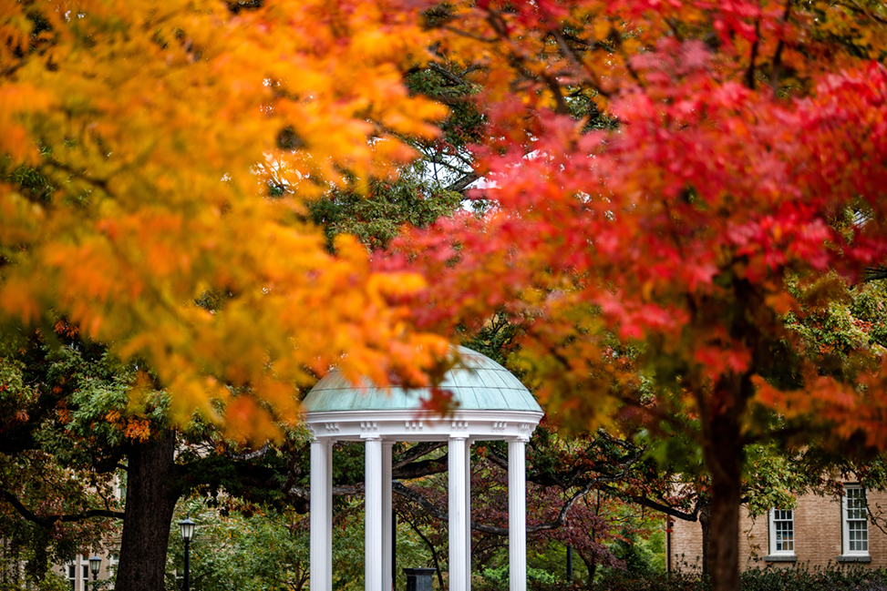 Campus scenes from November 2, 2018, on the campus of the University of North Carolina at Chapel Hill.