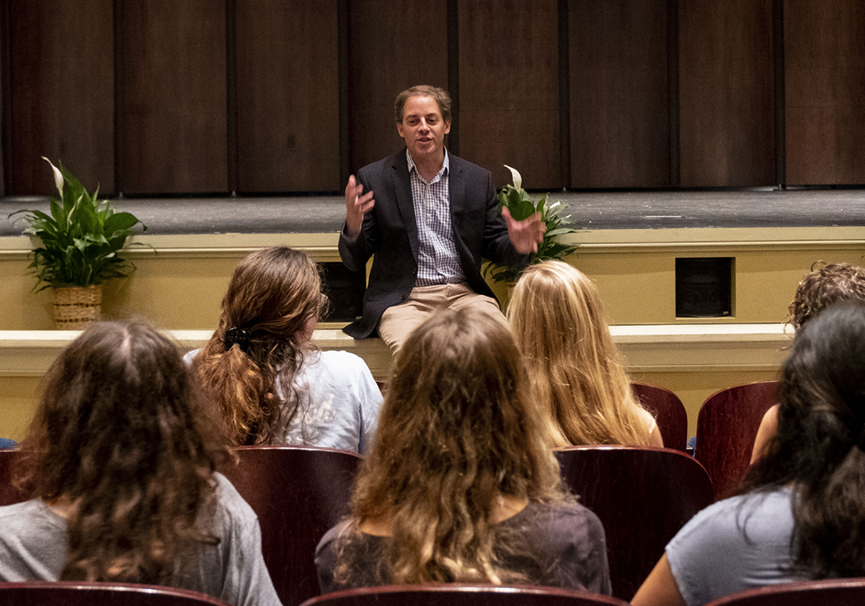 Summer Reading Lecture with the author of Popular, Mitch Prinstein held at Memorial Hall on the campus of the University of North Carolina at Chapel Hill August 20, 2018.