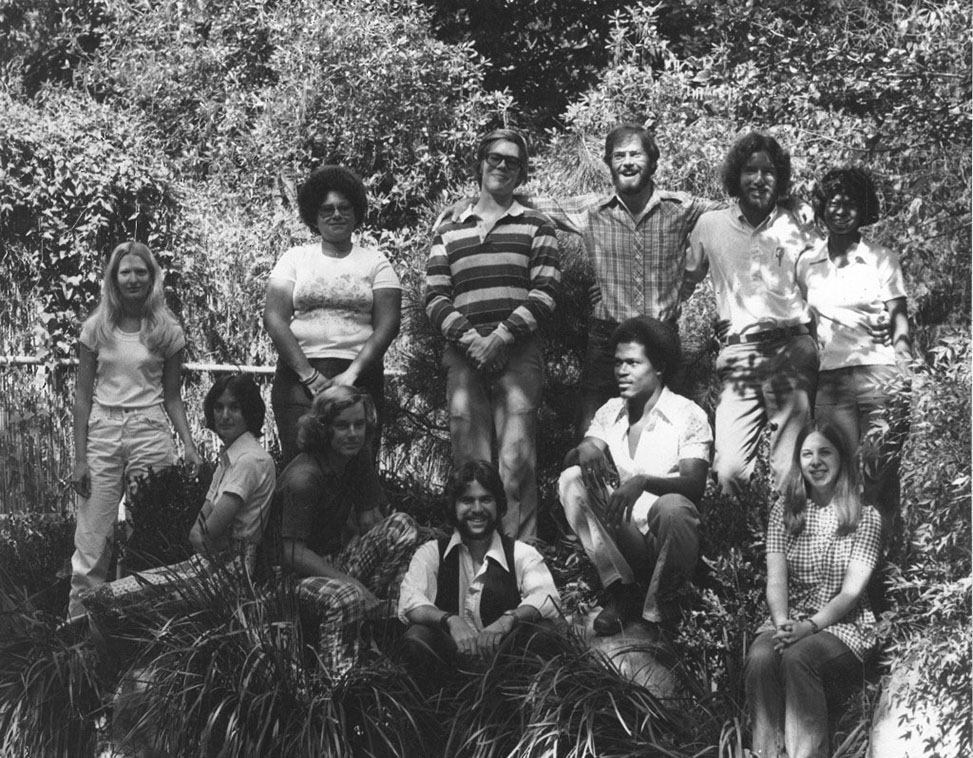 Thomas Wadden pictured in a black and white 1976 class photo